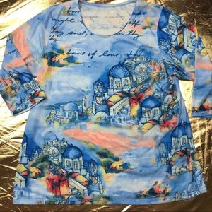 Allison Daley water color shirt pastel painting